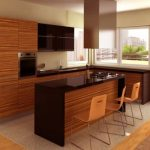chairs kitchen set wood sink windows table tile ceiling
