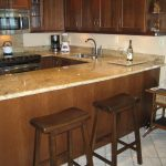chairs table kitchen bar stove sink