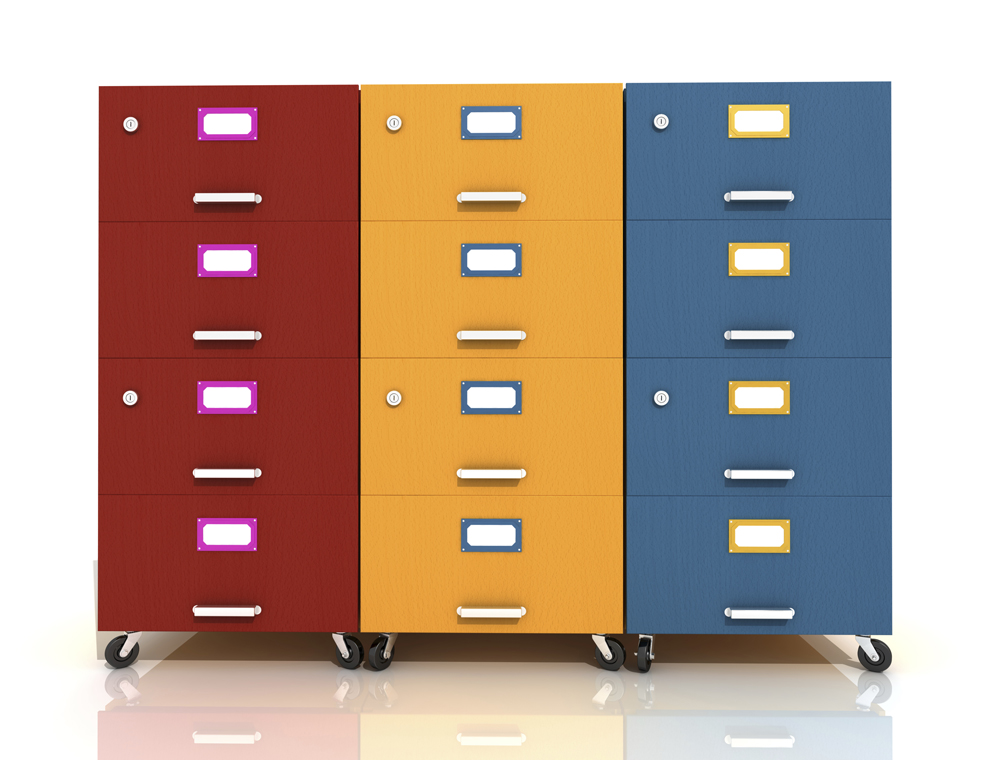 Clic Metal Vertical Decorative Filing Cabinets Colorful