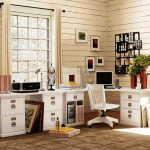 classic white wooden decorative file cabinets for classic sleek office room ivory cell walls charming yellow flower tile floor wall pictures