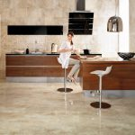 cleaning ceramic tile floors beautiful modern clean kitchen brown wooden kitchen cabinets modern kitchencounter stools