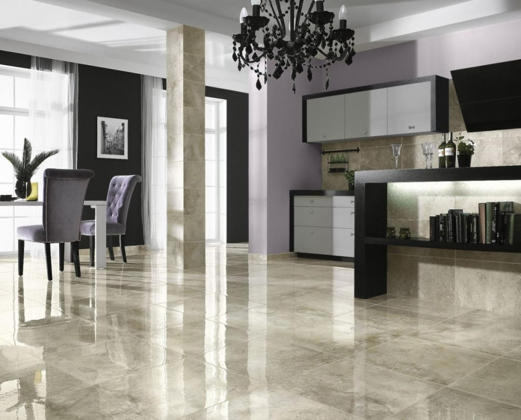 Cleaning Ceramic Tile Floors Beautiful Sleek Clean And Shiny Kitchen Dining Room