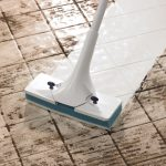 cleaning ceramic tile floors by wet mopping for clean white ceramic tile floors