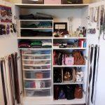 closet organizer bags glasses