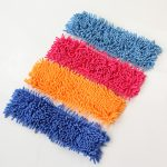 Colorful Fabric Dust Mop For Wood Design In Blue Orange Red And Yellow
