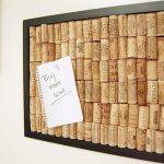 cool cork boards with wine cork plus black wooden frame