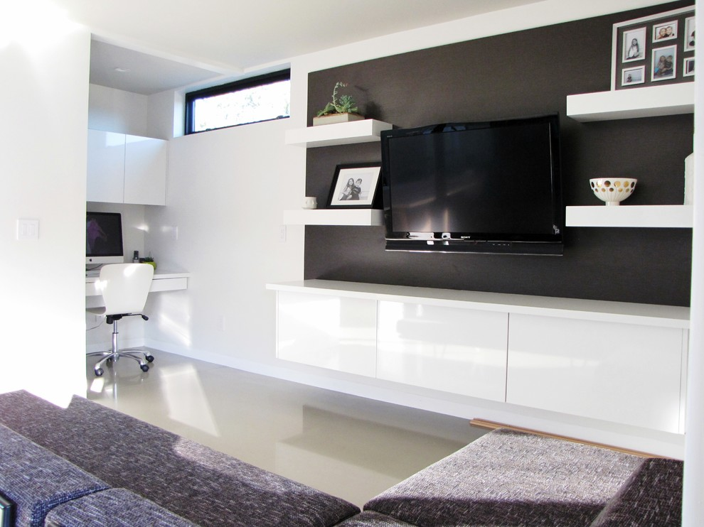 cool black and white tv wall units modular furniture small living room | Flat Screen TV Wall Cabinets Offering Space-Saving ...