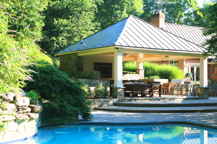 Pool Cabana Plans That Are Perfect for Relaxing and ... on Small Pool Cabana Ideas id=98806