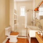 cork flooring in bathroom beautful clean white beige wooden modern bathroom