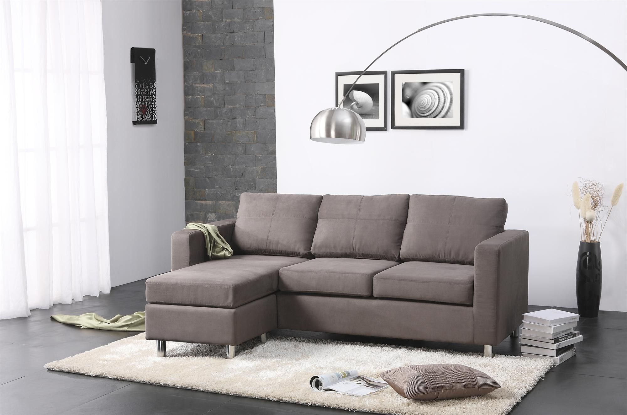 Couches For Small Living Rooms Pillow Rug Floor Wall Window Curtain Pictures Lamp Vases
