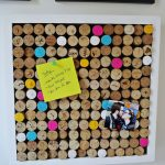 creative and cool cork boards ideas with cork wine decorated on white wall plus pictures and memo