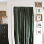 curtains rod pictures wall cabinet mirror