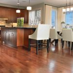 deep cleaning hardwood floors in dining room and modern kitchen ideas with modern dining set and wooden cabinets plus minimalist pendant lamp
