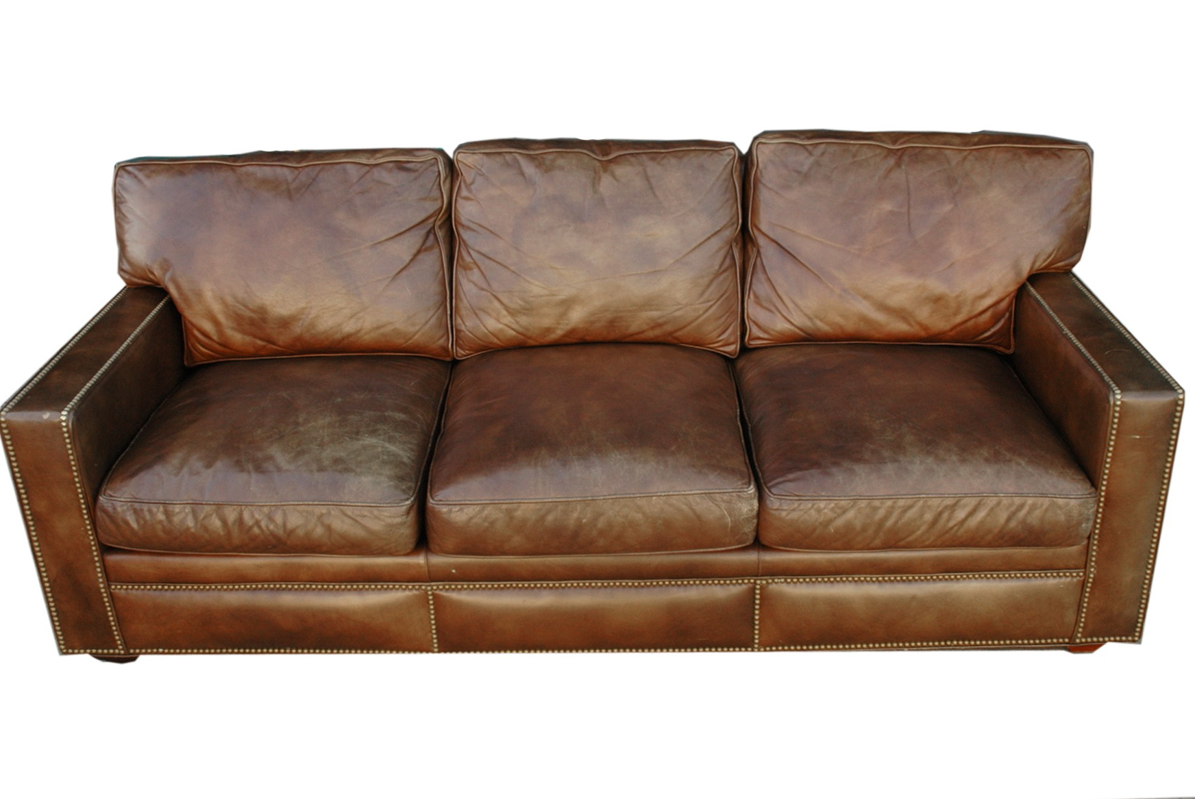 pics of distressed leather sofa | Distressed Leather Sectional | HomesFeed