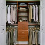 elegant and simple closet organizer for small closet idea with drawers and racks and clothes hanger and wooden floor