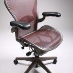 Elegant And Stylish Marroon Herman Miller Aeron Chair Parts Design With Black Armrests And Black Metal Legs And Wheels