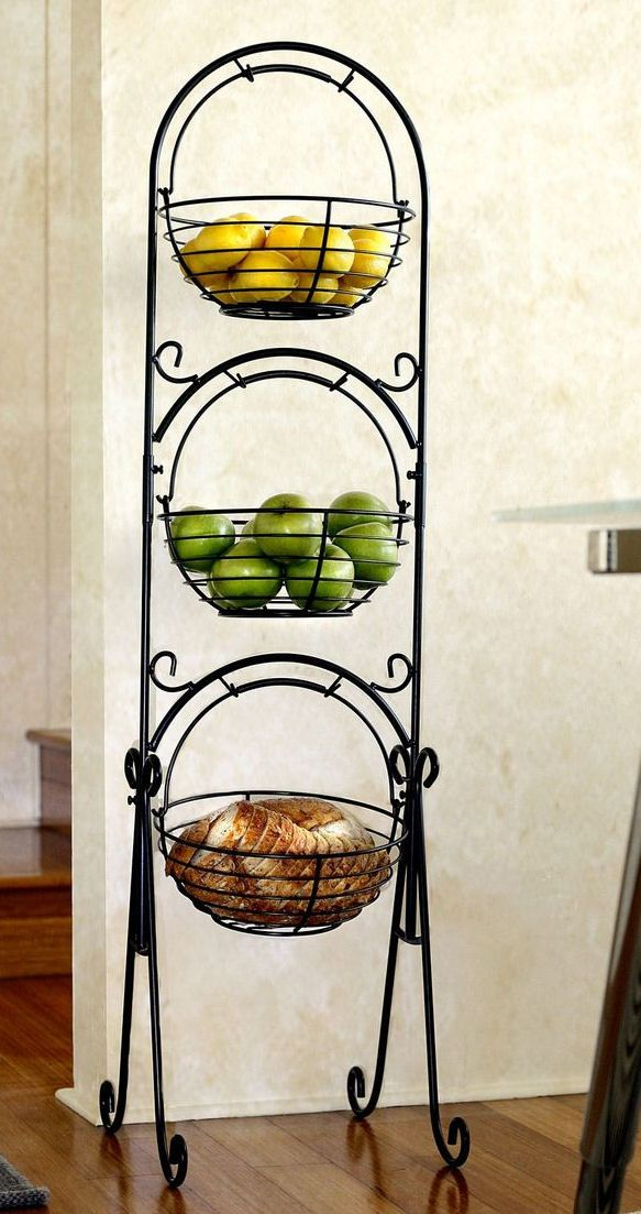 Floor Fruit Stand For Kitchen