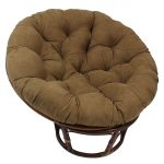 elegant brown papasan chair ikea with tuft patter on the bolster and round leg made of rattan