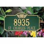 elegant style gold green lawn address signs house number and street name beautiful flower garden