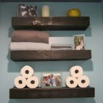 exotic wooden floating shelves idea lowes in three section in the bathroom for towel storage and tissue