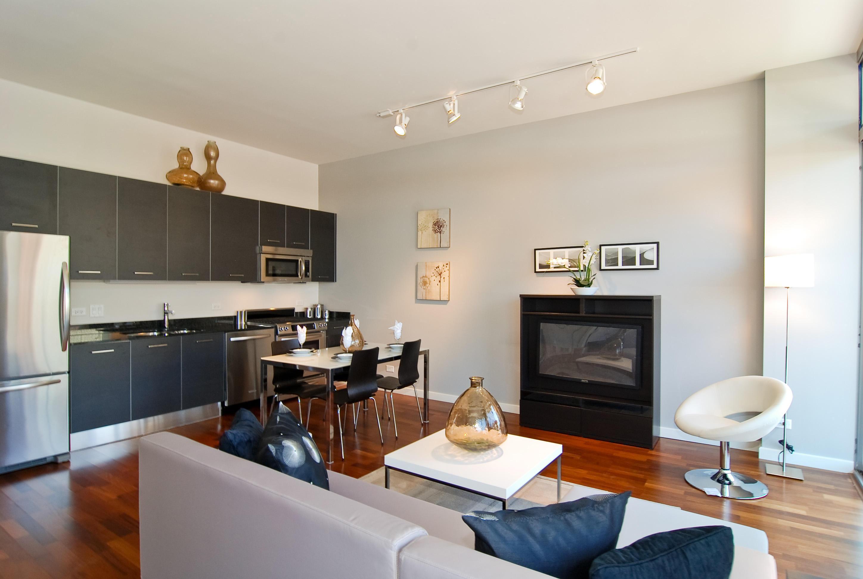 Kitchen Combined Living Room Design