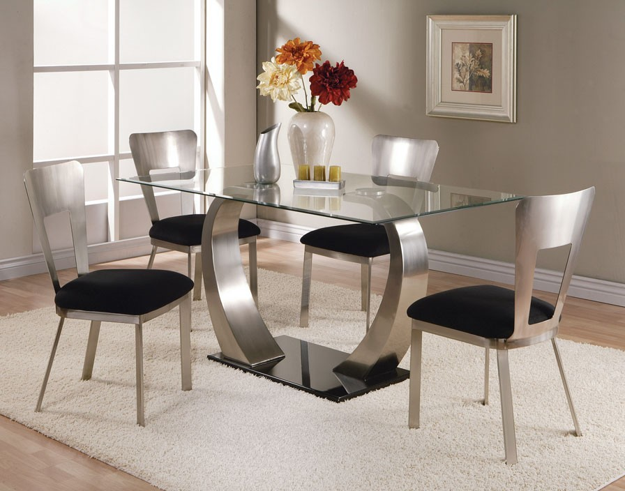 glass dining room tables and chairs glass top dining tables homesfeed 8344