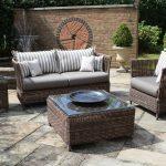 furniture lawn sofas pillows table plants