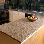 glass countertop kitchen wood set