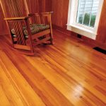 Glossy Clean Red Pine Flooring For Living Room Classic Wooden Lazy Chair