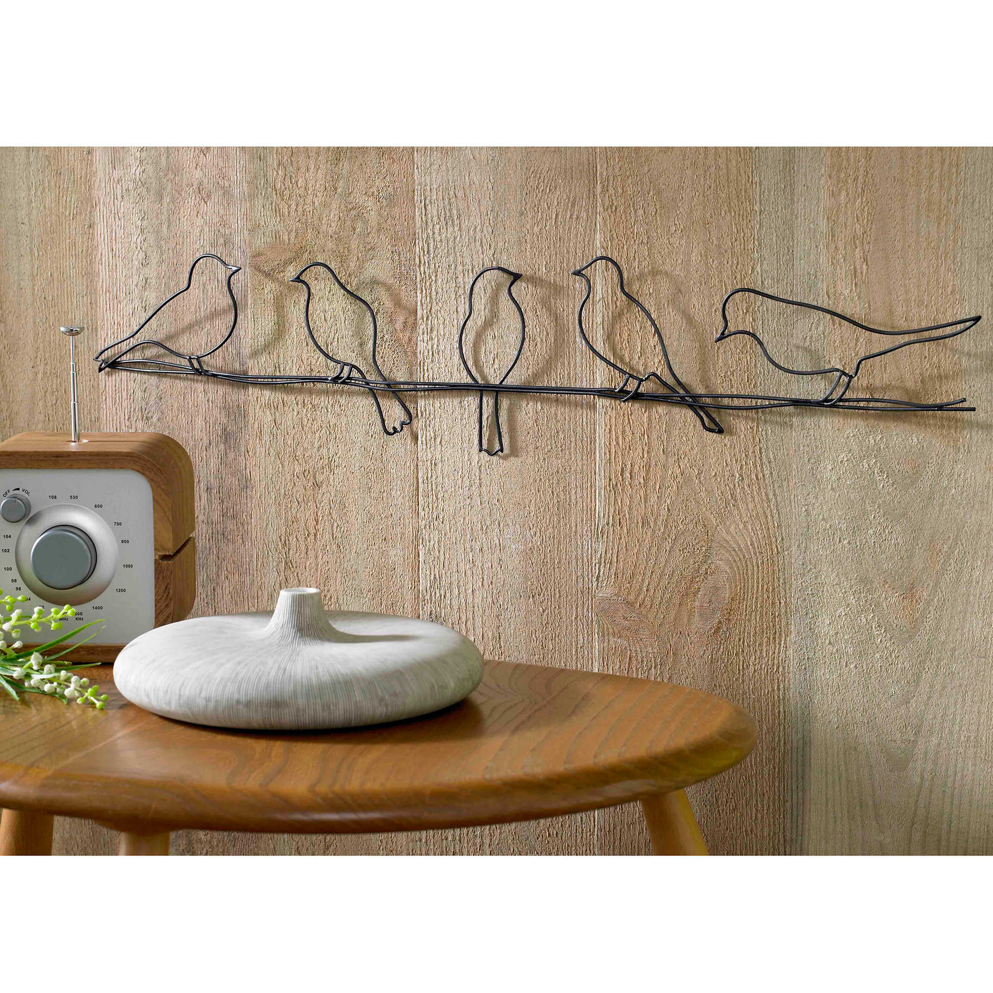 Birds On Wire Wall Art Optimize Every Inch Of Interior With Natural