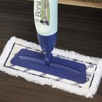 gorgeous purple dust mop for wood floor design with white fur and unique modern stick