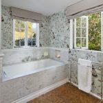 gray outside mount shades for beautiful motive bathroom walls hanging white towels tile floor white bathub