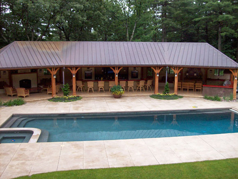 Pool Cabana Plans That Are Perfect for Relaxing and ... on Small Pool Cabana Ideas id=78892