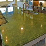 green tile granite kitchen countertop for ocean look kitchen with dining space