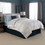 high end linens for bedding set in modernbedroom ideas ecorated with twin night stand in dark finishing plus table lamp and soft carpet areas and gray curtain