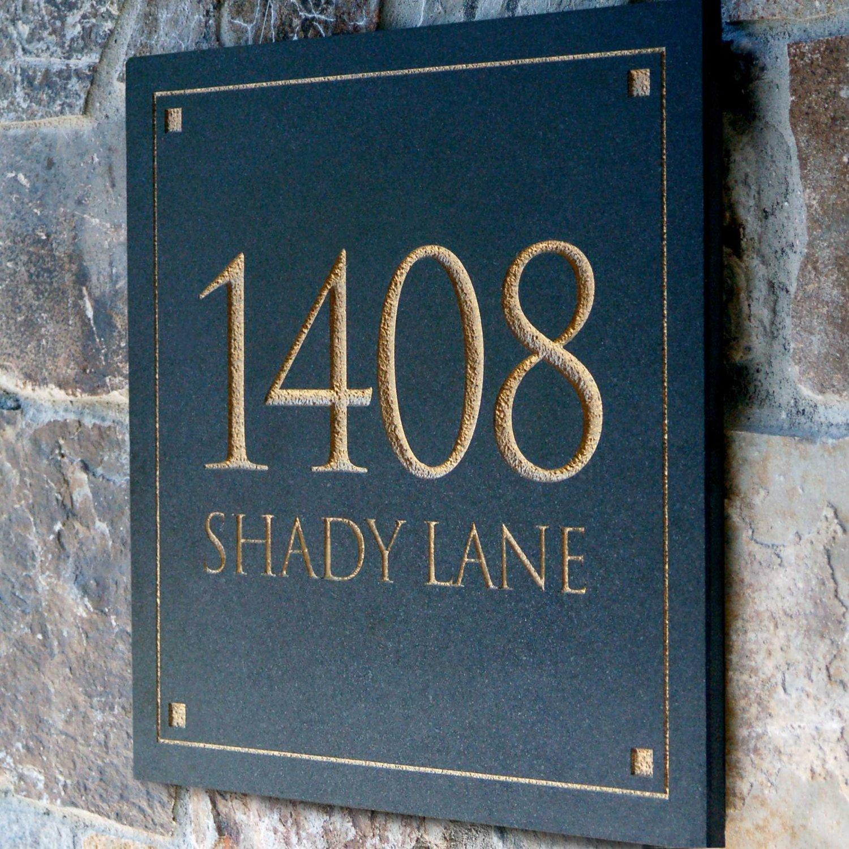 address plaques for homes homesfeed. Black Bedroom Furniture Sets. Home Design Ideas