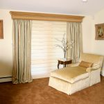 images of window treatments for large windows with blind and curtain combination for natural color living area
