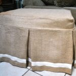 joyful ottoman slip covers in light brown with white accent on its beneath decorated in front of comfy sofa