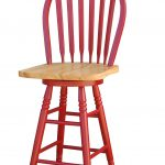 kitchen counter stool with back red wooden kitchen counter stool with windsor back red wooden frame natural wooden seat