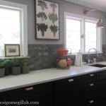 kitchen wood set sink pot plants pics windows