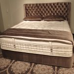 kluft mattress review with tufted headboard and comfy bedroom plus brown modern rug
