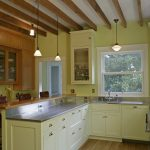 lamps kitchen set beams ceiling chairs