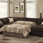 large bold brown sectional sofa sleepers with soft two tone bedsheets and cushions beautiful decorativedry plant