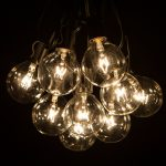 light lamps string black