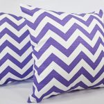 lovable purple accent pillow design with chevron pattern in white color for modern vintage appeal