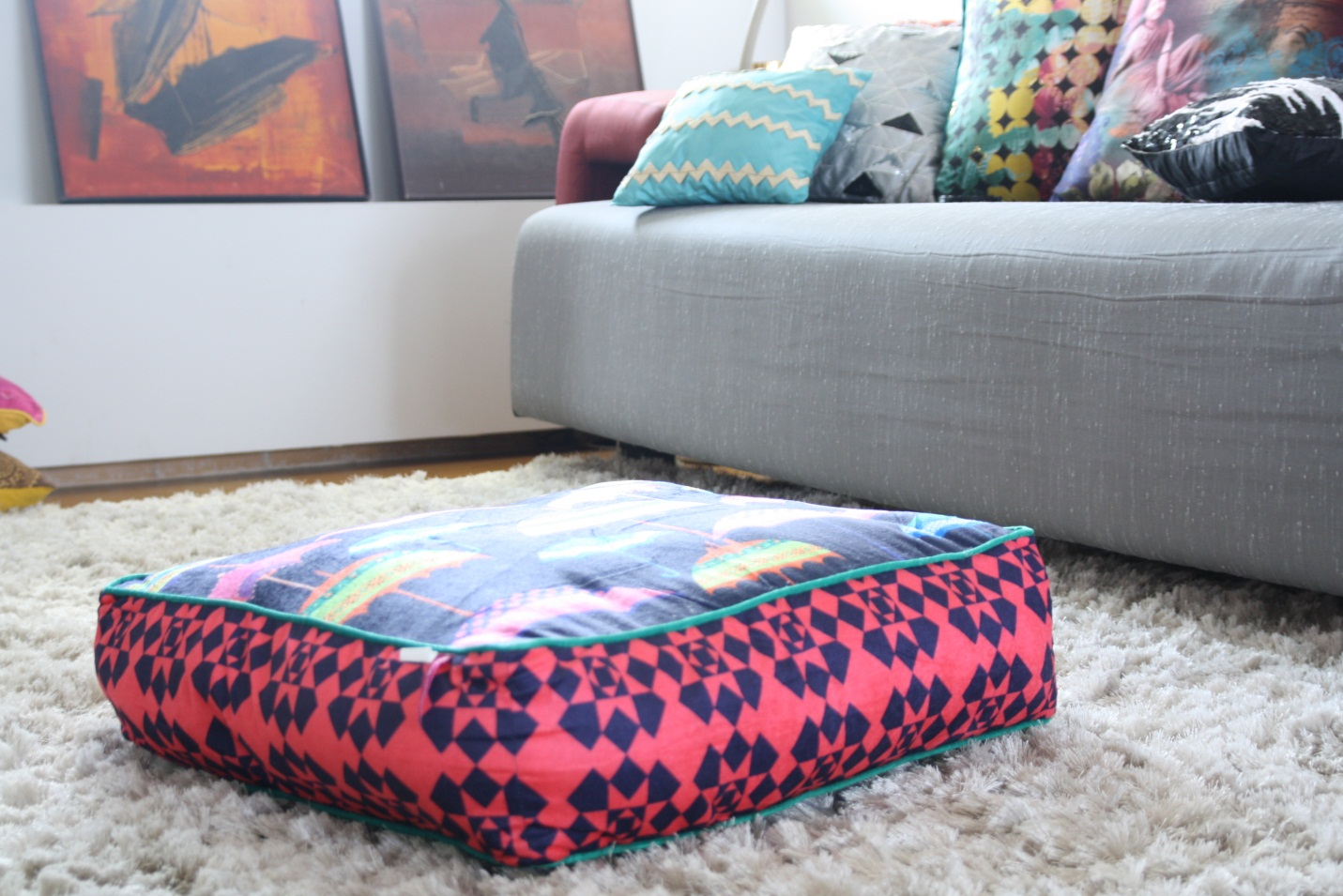 Floor pillows ikea adorn interior with exotic asian style - Cushion flooring for living rooms ...