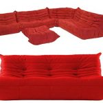 luxurious red ikea floor pillow design with tuft pattern andbackrest