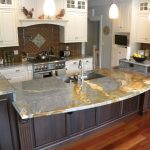 marble kitchen countertop white cabinet elegant chandelier steel sink