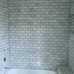 marble subway tile shower in amazing outlook and ceramic bathroom and bath tub plus contemporay shower ideas