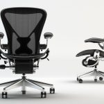 modern designed aeron chair asjustment design with tall backrest and armrests and swivel mode
